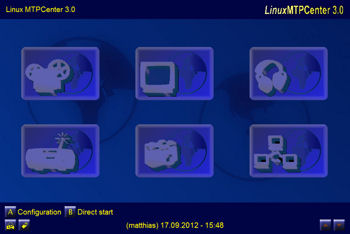 Main menu with Standard Layout